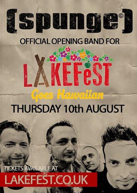 [spunge] peforming on opening night at Lakefest 2017